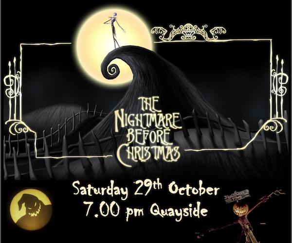 Halloween screening of Nightmare Before Christmas on Saturday October 29th